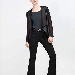 Zara thin faux leather blazer